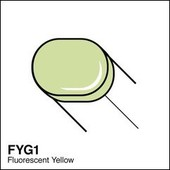 Copic Sketch marker FYG1 fluorescent yellow