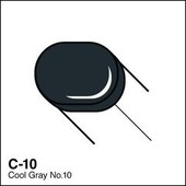 Copic Sketch marker C10 cool gray 10