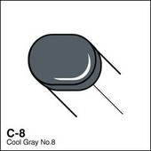 Copic Sketch marker C08 cool gray 8
