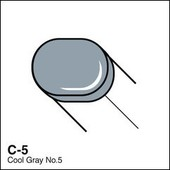 Copic Sketch marker C05 cool gray 5