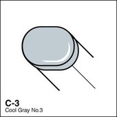 Copic Sketch marker C03 cool gray 3
