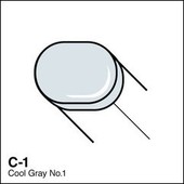 Copic Sketch marker C01 cool gray 1