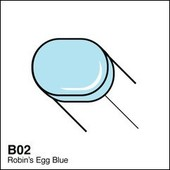 Copic Sketch marker B02 robin's egg blue