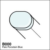 Copic Sketch marker B000 pale porcelain blue