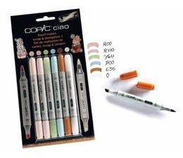 Copic Ciao marker Copic Ciao markerset 5+1 (blender) Scrap & stempel 1