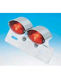 taillight cat eye dual mini with license bracket universal