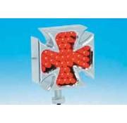 marker lights LED Chrome billet aluminum Maltese Cross pair