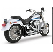 Vance and Hines exhaust staggered short shots black or Chrome: Fits:> 87-11 Softail (exclude. SE CVO & Rockers )