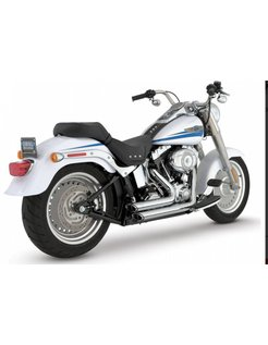 exhaust staggered short shots black or Chrome: Fits:> 87-11 Softail (exclude. SE CVO & Rockers )