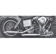 Paughco exhaust bold baloney-slice muffler pipes - 1970 - 1984 FL & FLH (only 1 in stock)