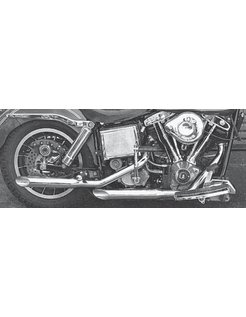 exhaust bold baloney-slice muffler pipes - 1970 - 1984 FL & FLH (only 1 in stock)