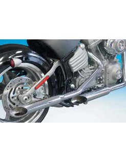 exhaust 1 3/4 inch  baloney slice muffler pipes for rocker