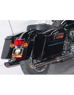 Harley exhaust oval tailpipes,