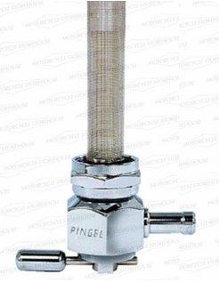 Power-flo Benzinhahn 22mm Aluminium poliert
