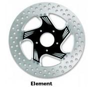 PM brake rotor contrast-cut 2-piece