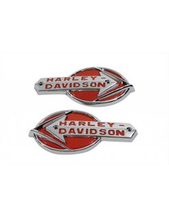 gas tank set of white emblems with red lettering