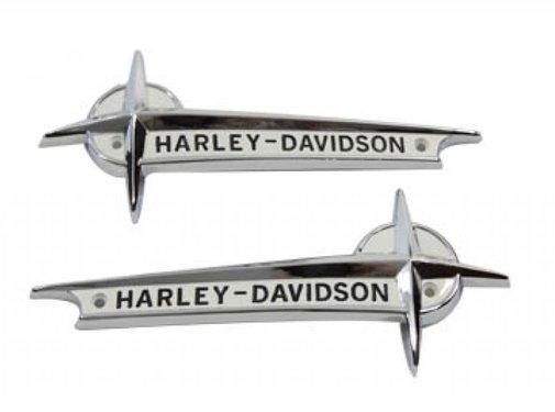 Harley Davidson gas tank white emblems with black lettering