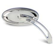 Arlen Ness mirror die-cast Chrome oval stepped mirror