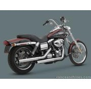 Vance and Hines exhaust straightshot slip-ons 91-16 Dyna (exclude 08-16 FXDF