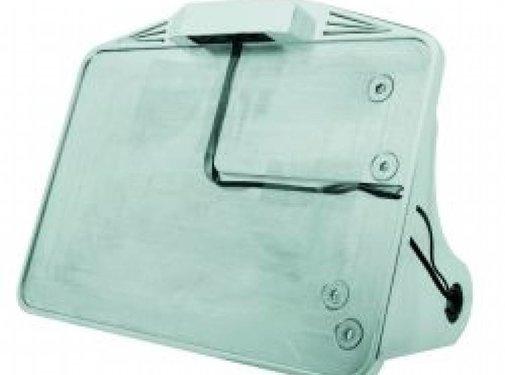 CPV Kfz-Kennzeichen, seitliche Montage, schwarz oder poliert mit LED-Licht