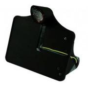 CPV plaque d'immatriculation, montage latéral, noir avec éclairage LED