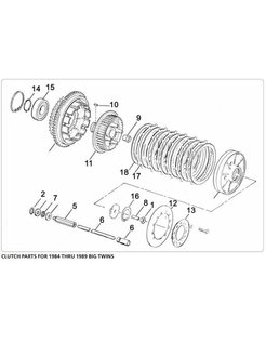 clutch parts, for 1984 thru 1989 BIG TWINS