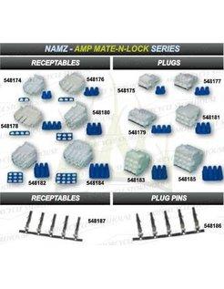 AMP-Stecker, Steckdosen und BehÃĊlter