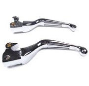 MCS handlebars  levers - 2 slotted Chrome various 96-17