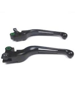 handlebar levers - 2 slotted black, various models 96-17