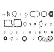 James transmission gaskets and seals kit -4 speed 1936 - 1984