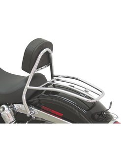 luggage rack with integrated driver sissy bar