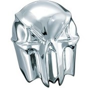 Kuryakyn Horn Cover skull - Chrome/black Fits:> 91-16 Big Twin and Sportster XL (uses stock )