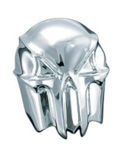 skull horn cover - chrome/black