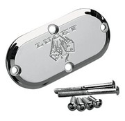 Joker Machine primary inspection cover - lucky 7 for for 65-06 Big Twins and 86-up FXST/FLST FXWG and 93-05 FXDWG