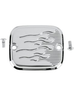 front/rear master cylinder cover - flame