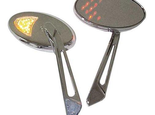 MCS mirror led turnsignal mirror set - Black or Chrome