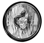 Adjure headlight diamond cut skull - smooth clear lens