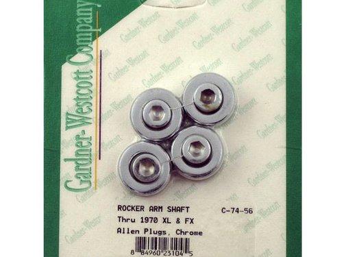 wheel rocker shaft end plugs