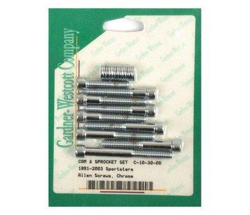 GARDNER-WESTCOTT Engine  cam cover bolt kit allen Fits:> 91-03 XL