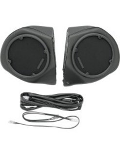 audio  vinyl covered rear speaker pods Fits:> 98-13 models with radio and king tour pak