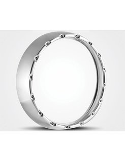 headlight LED halo headlamp ring Chrome