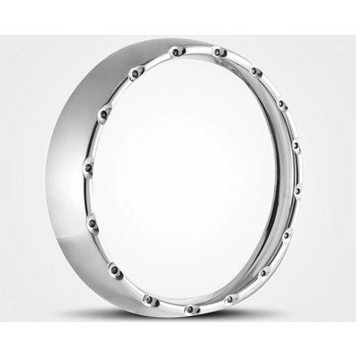 Halo LED-koplamp Ring Chrome