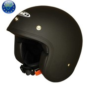 DMD helmet Solid black Matt