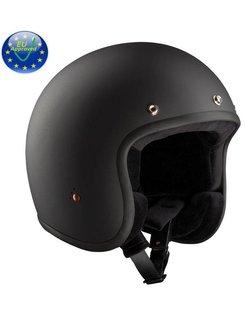 Jet-Helm, schwarz matt