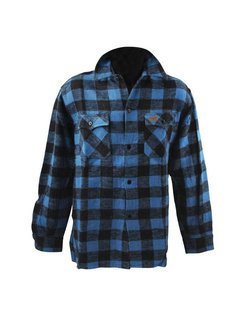 checkered shirt - black and blue