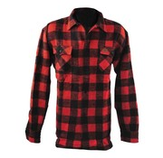 MCS Accessories checkered shirt - black and red