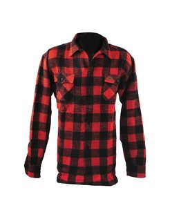 checkered shirt - black and red