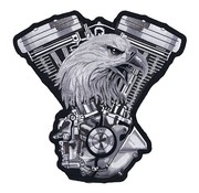 Lethal Threat Biker patch - moteur V-twin