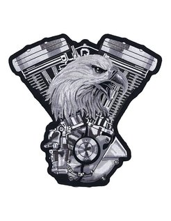 biker patch - v-twin engine