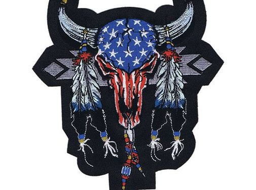 Lethal Threat Accessories biker patch - cowskull